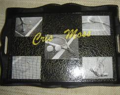 kit tennis, bandeja (gde) e porta copos