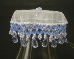 Cobre bolos, fruteiras 35 cms Azul