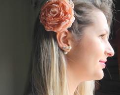 Flor salm�o para cabelo