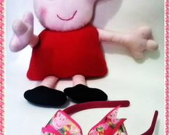 Tiara/faixa Peppa Pig - gorgur�o