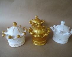 Coroa 3D pequena dourada