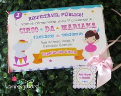 Convite Pipoca - Circo Menina
