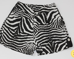 Short em Gorgur�o Animal Print Zebra - P