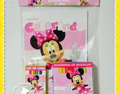 Kit Colorir e massinha modelar Minnie