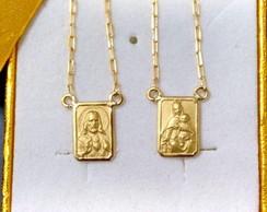 Escapulario de ouro 2,1 18k