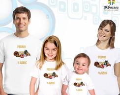 Kit 4 camisetas- Angry Birds Star Wars