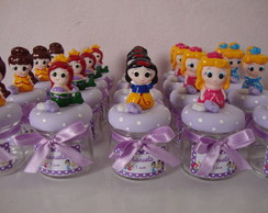 Mini potinho decorado Princesas Baby