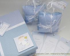 Caixa Convite Personalizada Azul