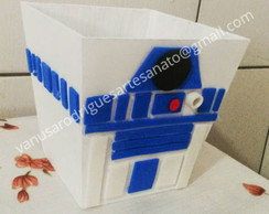 lembrancinha cachepo star wars r2d2 mdf