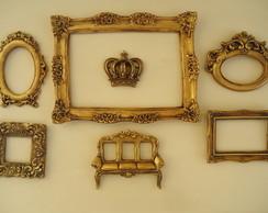 Conjunto Molduras - Ouro Velho