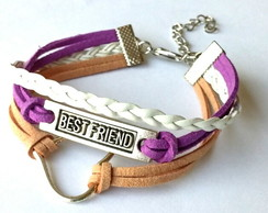 Kit 2 Pulseiras Camur�a Best Friends