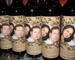 R�tulo para garrafa de vinho