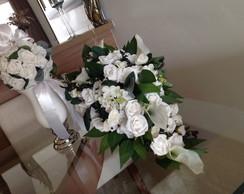 Bouquet noiva cascata & porta alian�as