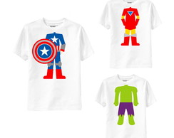 Camiseta Fantasia Super Her�i Divertida