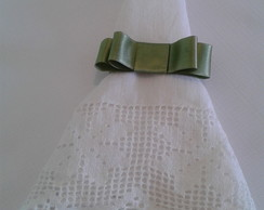 Porta guardanapo Chanel Cetim verde ment