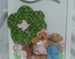 Enfeite Porta Maternidade Fam�ilia Ursos