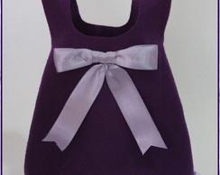 Embalagem p�scoa coelha - roxo violeta