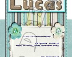 Convites Saquinho de Ch� - Scrapbook