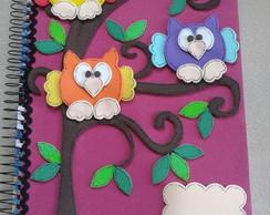 Caderno com capa de E.V.A.