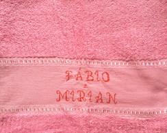 toalhas de rosto bordada ponto cruz