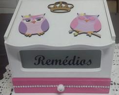 Caixa De Rem�dios (farmacinha) Coruja