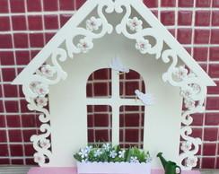 Porta-chaves P�ssaros e Flores