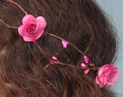 Coroa de Flores Rosa Pink