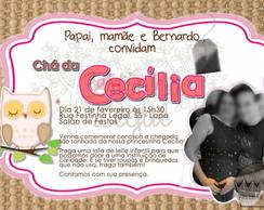 Convite virtual corujinha ch� de beb�