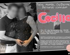 Convite impresso ch� de beb�