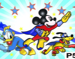 Painel Mickey super her�i frete gr�tis