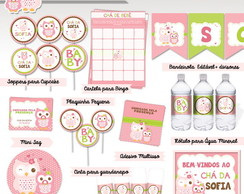 Kit Ch� de Beb� Digital Corujinha