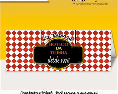 Lapela Kit Ressaca Edit�vel Festa Boteco