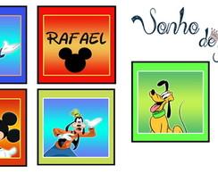 Placa Turma do Mickey