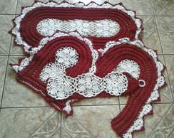 Jogo de banheiro feito em croch�