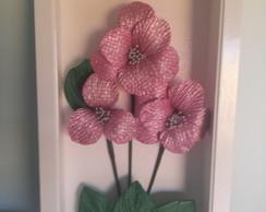 Quadro Flor de EVA decorativo