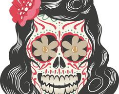 Adesivo Caveira Mexicana - Frete Gr�tis