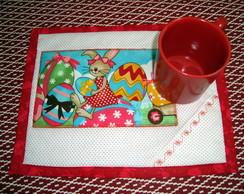 Mug Rug - P�scoa Vermelho