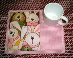 Mug Rug - P�scoa Rosa