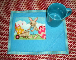 Mug Rug - P�scoa Azul