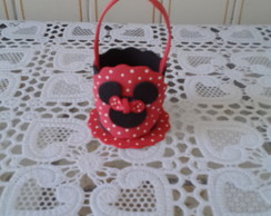 Mini cesta Minnie porta doce eva