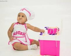 fantasia de mini chef para beb�