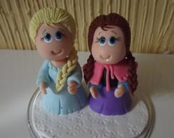 Topo de Bolo Elsa e Ana