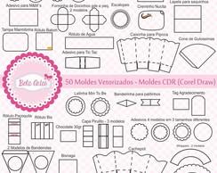 50 moldes vetorizados para Corel Draw