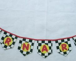 Bandeirinha de tecido Carros