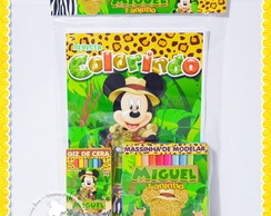 Kit Colorir + Massinha Mickey Safari