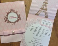 Convite Princesas em Paris