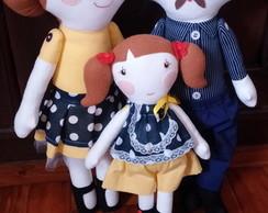 Bonecos de pano Familia
