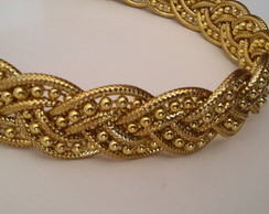 head band tran�ado dourado
