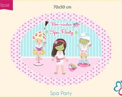 Placa Elipse Digital - Spa Party