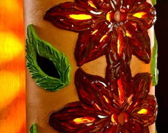 """Lumin�ria de parede """"Flores em Luz"""""""